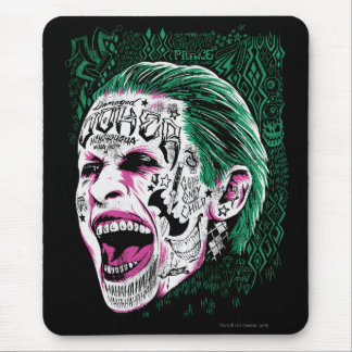 Suicide Squad | Laughing Joker Head Sketch Mouse Pad