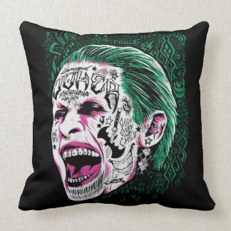 Suicide Squad | Laughing Joker Head Sketch Throw Pillow
