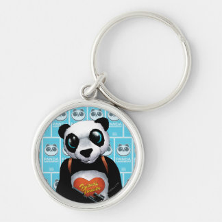 Suicide Squad | Panda Silver-Colored Round Keychain