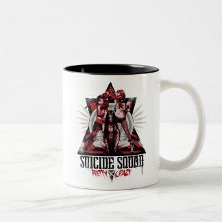Suicide Squad   Pretty Crazy Squad Girls Two-Tone Coffee Mug
