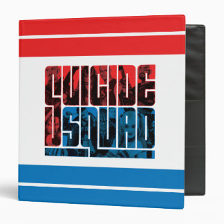 Suicide Squad | Red and Blue Logo 3 Ring Binder