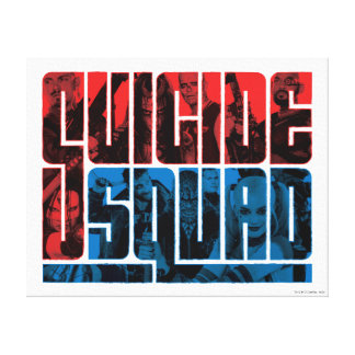 Suicide Squad   Red and Blue Logo Canvas Print