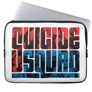 Suicide Squad | Red and Blue Logo Laptop Sleeves