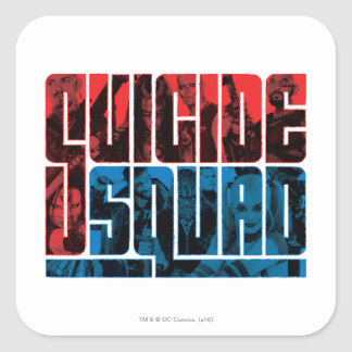 Suicide Squad | Red and Blue Logo Square Sticker