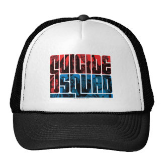 Suicide Squad | Red and Blue Logo Trucker Hat