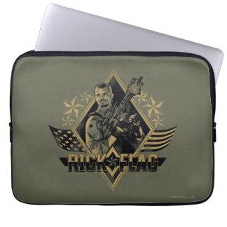 Suicide Squad | Rick Flag Badge Laptop Sleeve