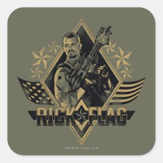 Suicide Squad | Rick Flag Badge Square Sticker