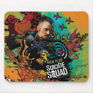 Suicide Squad   Rick Flag Character Graffiti Mouse Pad