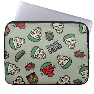 Suicide Squad | Rick Flag Emoji Pattern Laptop Computer Sleeves