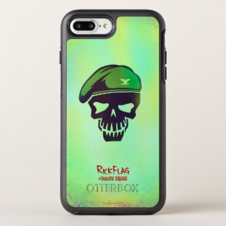 Suicide Squad | Rick Flag Head Icon OtterBox Symmetry iPhone 7 Plus Case