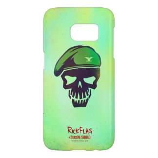 Suicide Squad | Rick Flag Head Icon Samsung Galaxy S7 Case