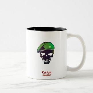 Suicide Squad | Rick Flag Head Icon Two-Tone Coffee Mug