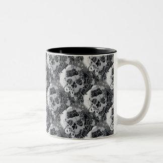 Suicide Squad   Skull Pattern Two-Tone Coffee Mug
