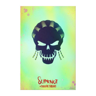 Suicide Squad   Slipknot Head Icon Canvas Print