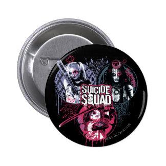 Suicide Squad | Squad Girls Graffiti Badges 2 Inch Round Button