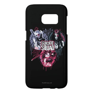 Suicide Squad | Squad Girls Graffiti Badges Samsung Galaxy S7 Case