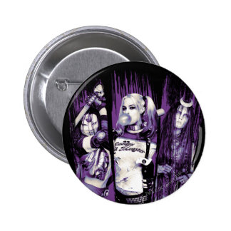 "Suicide Squad | Squad Girls ""In Squad We Trust"" 2 Inch Round Button"