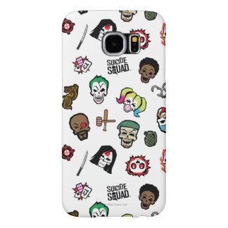 Suicide Squad | Suicide Squad Emoji Pattern Samsung Galaxy S6 Cases