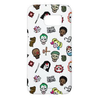 Suicide Squad | Suicide Squad Emoji Pattern Samsung Galaxy S7 Case
