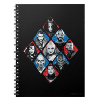 Suicide Squad | Task Force X Checkered Diamond Notebook