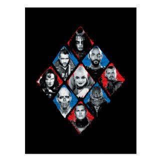 Suicide Squad   Task Force X Checkered Diamond Postcard