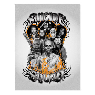 Suicide Squad   Task Force X Tribal Tattoo Postcard