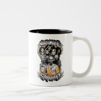 Suicide Squad | Task Force X Tribal Tattoo Two-Tone Coffee Mug