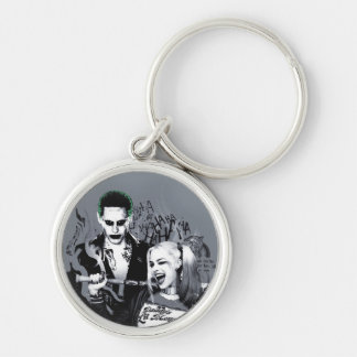 Suicide Squad | The Worst of The Worst Silver-Colored Round Keychain