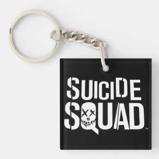 Suicide Squad | White Logo Double-Sided Square Acrylic Keychain