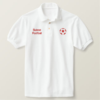 Suisse Football Polo Shirt for Swiss soccer fans