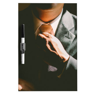 Suit businessman tie shadow effect dry erase boards