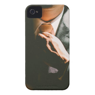 Suit businessman tie shadow effect iPhone 4 case