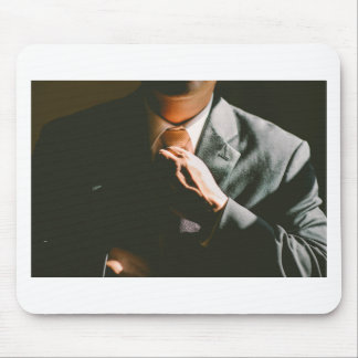 Suit businessman tie shadow effect mouse pad
