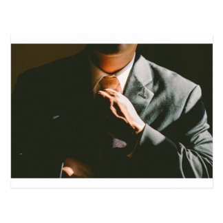 Suit businessman tie shadow effect postcard