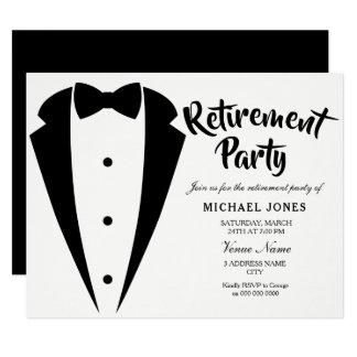 Suit & Tie Work Office Retirement Party Invite