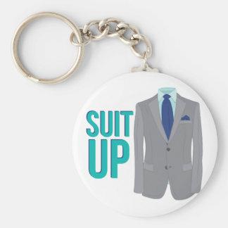 Suit Up Basic Round Button Keychain