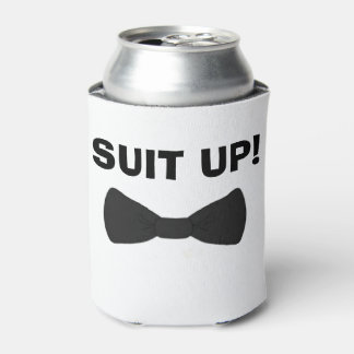 Suit up wedding party can coolers custom wedding can cooler