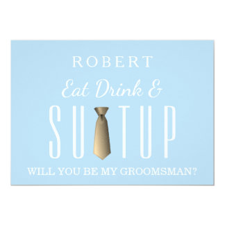 Suit-up Will you be my groomsman Card
