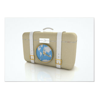 Suitcase For Travel Invitations