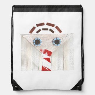 Suitcase Man No Background Drawstring Bag
