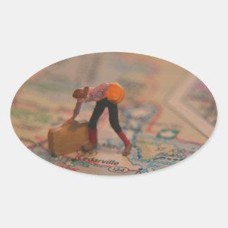 Suitcase Oval Sticker