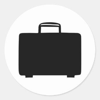 Suitcase Round Sticker