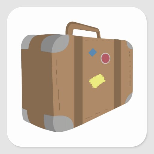 Suitcase Square Stickers