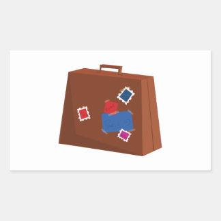Suitcase Rectangular Sticker