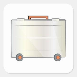 Suitcase Square Sticker