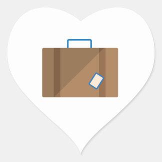 Suitcase Heart Sticker