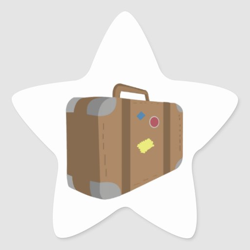 Suitcase Star Stickers