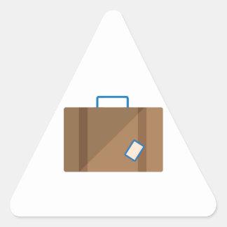 Suitcase Triangle Sticker