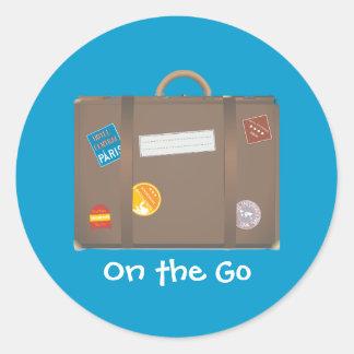Suitcase template sticker