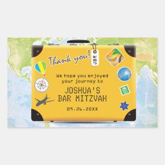 Suitcase World Travel Themed Bar Bat Mitzvah Sticker